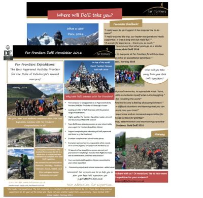 DofE Newsletter 2016
